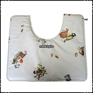 Wc mat Birds / boerenruit donkergroen