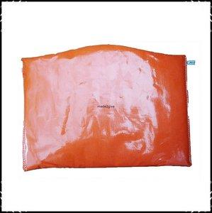 Kussen voor voetplank Stokke Tripp Trapp kinderstoel Effen oranje / ruit oranje
