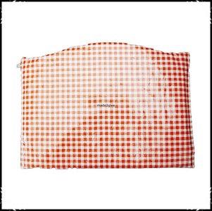 Kussen voor voetplank Stokke Tripp Trapp kinderstoel ruit oranje / effen oranje