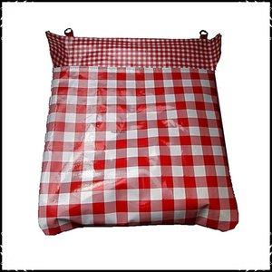 Postopvanger / Brievenbuszak boerenruit groot rood / Boerenruit rood