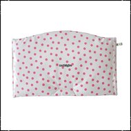 Kussen-voor-zitplank-Stokke-Tripp-Trapp-kinderstoel-polkadot-wit-roze-ruit-roze