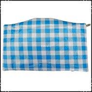 Kussen-voor-zitplank-Stokke-Tripp-Trapp-kinderstoel-Boerenruit-lichtblauw-groot-ruit-lichtgroen-groot