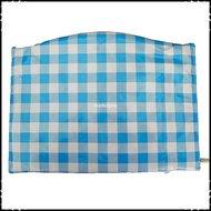 Kussen-voor-voetplank-Stokke-Tripp-Trapp-kinderstoel-Boerenruit-lichtblauw-groot-ruit-lichtgroen-groot