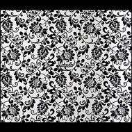 Plakfolie-Bloemmotief-zwart-wit