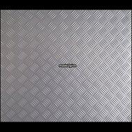 Plakplastic-traanplaat-zilver-mat