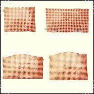 kussenset-voor-Stokke-Tripp-Trapp-kinderstoel-4-delig-ruit-oranje-fortin-oranje