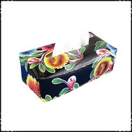 Tissueboxhoes-floral-zwart