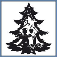 Sticker-Kerstboom-met-engel