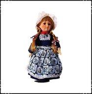 Hollandse-klederdrachtpop-vrouw-porcelein