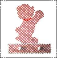 Handdoekenrekje-kapstok-Beertje-roze