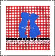 Wanddecoratie-boerenruit-rood-blauw-kussend-paartje