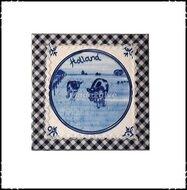 Wanddecoratie-boerenruit-blauw-met-koeien
