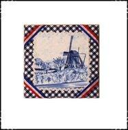 Wanddecoratie-rood-wit-blauw-met-molen