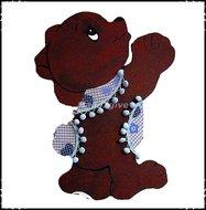 wanddecoratie-beer-blauw-aangekleed