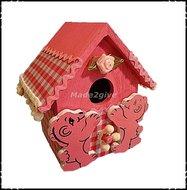 Vogelhuisje-medium-roze-met-beertjes