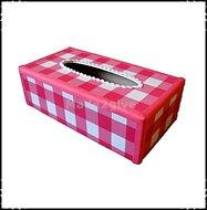 Tissuebox-roze-geruit