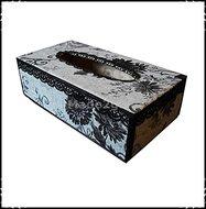 Tissuebox-grijs-zwart-met-bloemmotieven