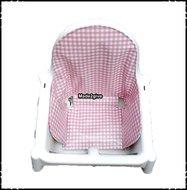 Inlay-voor-Ikea-kinderstoel-Boerenruit-babyroze-Rosaria-roze