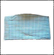 Kussen-voor-zitplank-Stokke-Tripp-Trapp-kinderstoel-Boerenruit-lichtblauw-Fortin-donkerroze