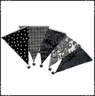 Vlaggetjes-10Meter-zwart-wit