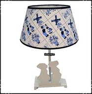 Lamp-Kussend-paartje-wit-Delftsblauw