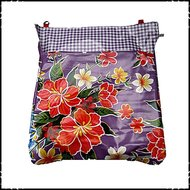 postvangzak paarse bloemen