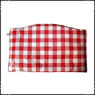 Kussen-voor-zitplank-Stokke-Tripp-Trapp-kinderstoel-Boerenruit-rood-groot-ruit-blauw-groot